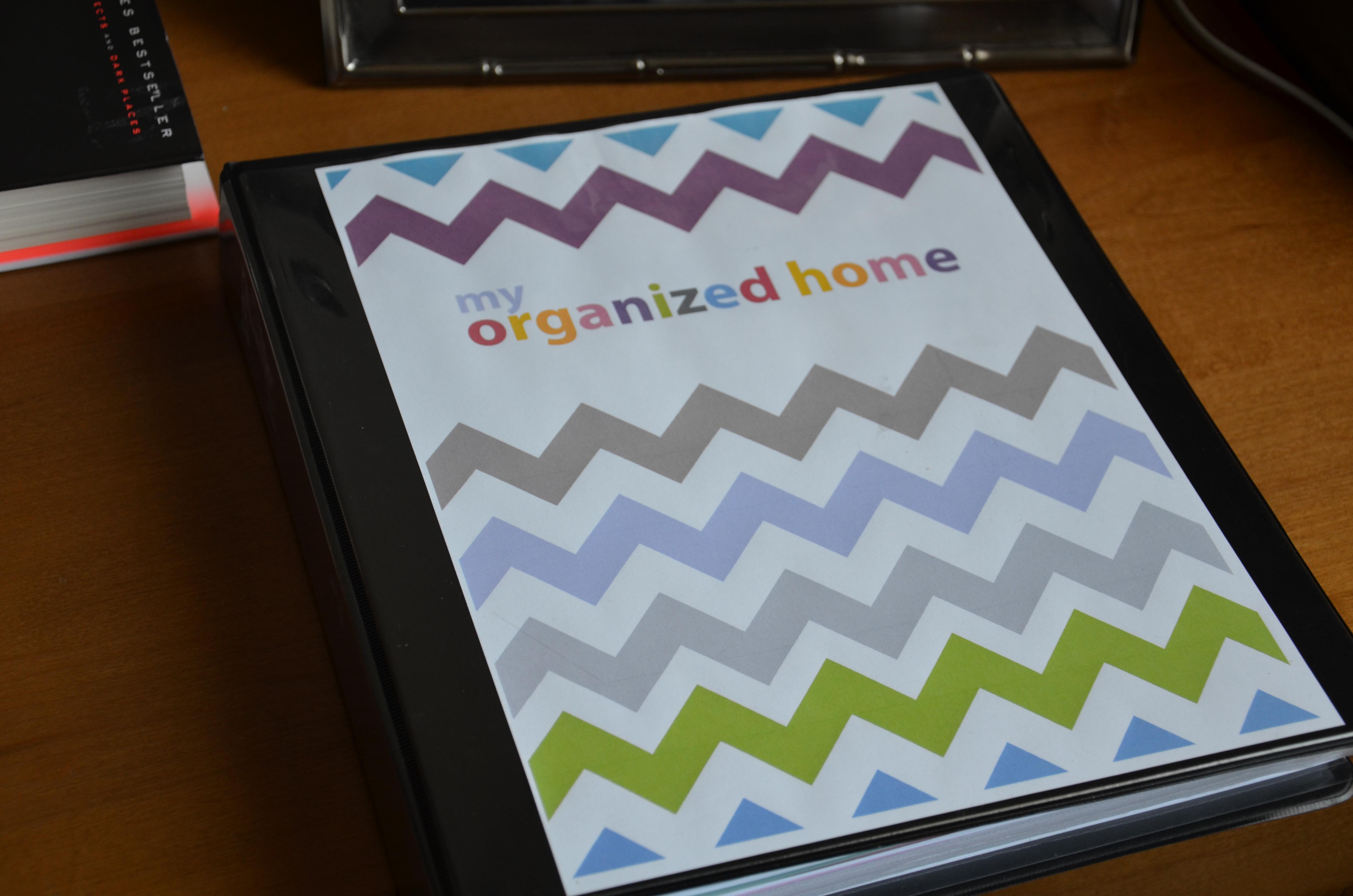 Family organization binder for Home planning binder