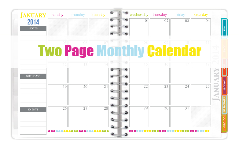 The all new 2014 everyday planner printables sweet paper for 2 page weekly calendar template