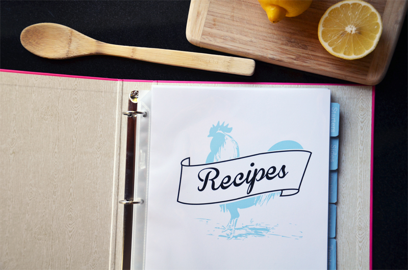 Cookbook DIYNew Printables and a RecipeSweet Paper Trail
