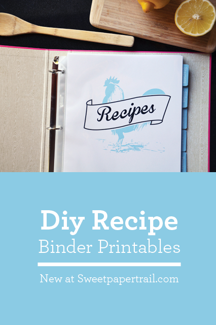 cookbook diy new printables and a recipe sweet paper trail