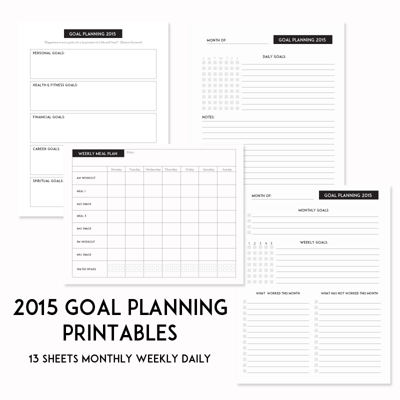 financial planning worksheets