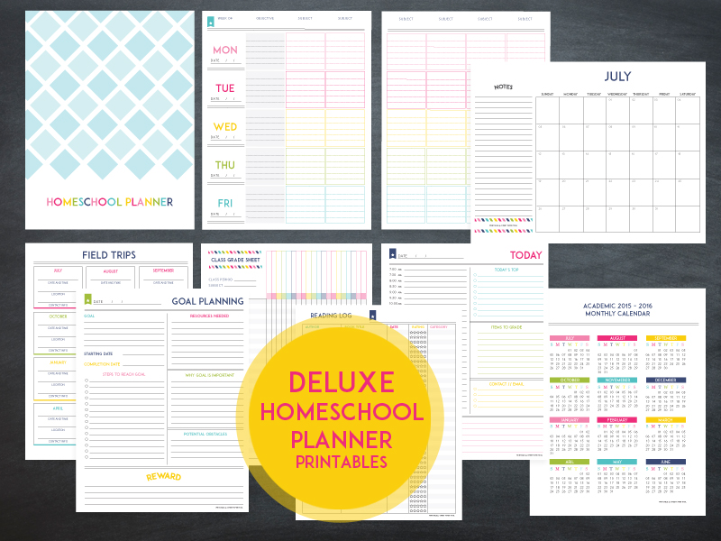 Lesson Planner Template The Deluxe Homeschool Planner - Monthly lesson plan template