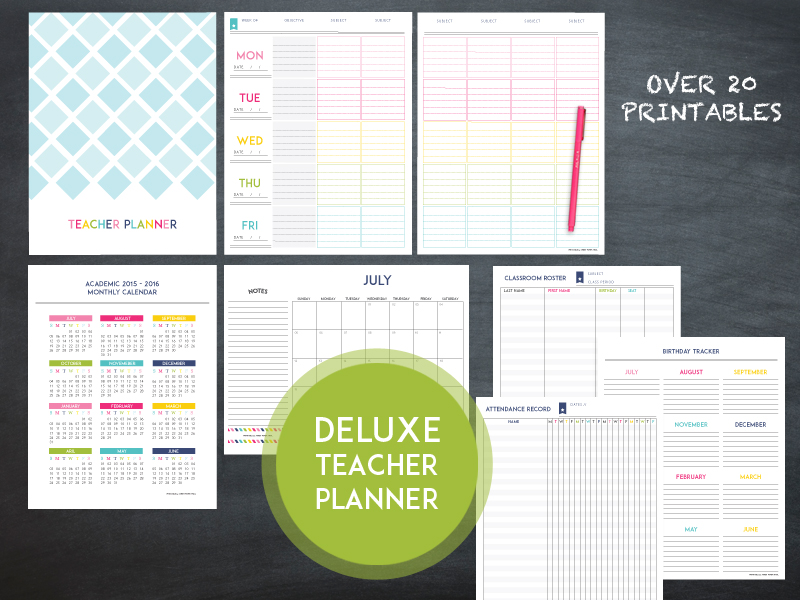 The 2016 2017 deluxe teacher planner sweet paper trail deluxe teacher planner pronofoot35fo Gallery